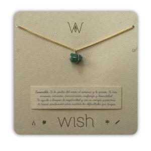 WHCLCD001O Collar cadena oro Esmeralda