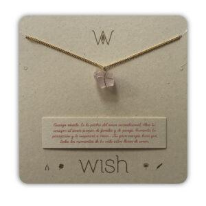 WHCLCD009O Collar cadena oro Cuarzo rosado