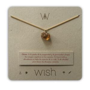 WHCLCD010O Collar cadena oro Citrino