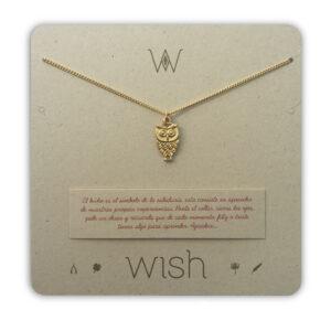 WHCLCD036O Collar cadena oro Búho