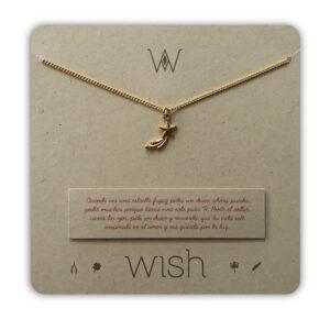 WHCLCD051O Collar cadena oro Estrella fugaz
