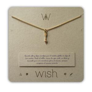 WHCLCD081O Collar cadena oro Flecha