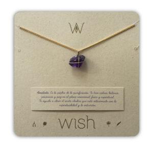 WHCLCD004O Collar cadena oro Amatista