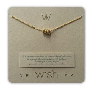 WHCLCD018O Collar cadena oro 3 Argollas