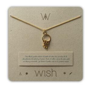 WHCLCD019O Collar cadena oro 3 llaves