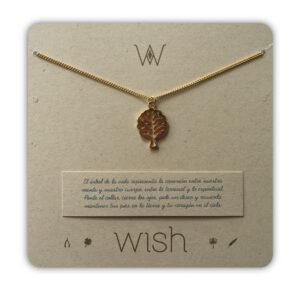 WHCLCD021O Collar cadena oro Arbol de la vida