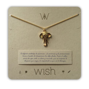 WHCLCD027O Collar cadena oro Elefante