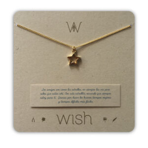 WHCLCD065O Collar cadena oro Estrella Amigas