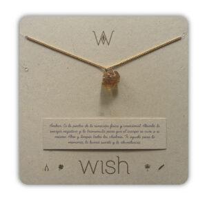 WHCLCD082O Collar cadena Oro Ámbar