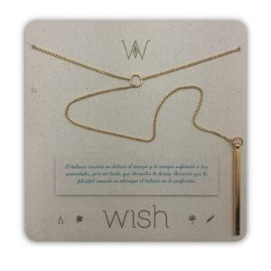 WHCLCD301O Collar cadena oro Balance Y