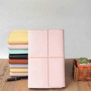 Bitacora rosa pastel media carta AMB